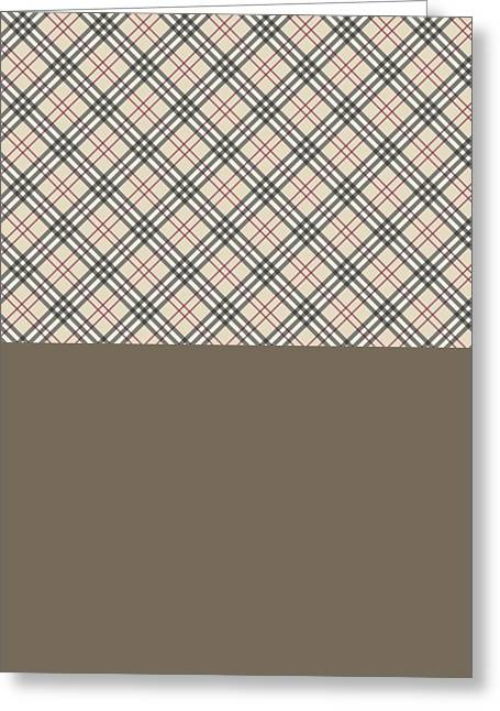Texture Tapestries - Textiles Greeting Cards - Burberry texture Greeting Card by Taylan Soyturk