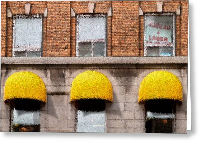 Repetition Greeting Cards - Bureau a Louer Greeting Card by Paul Wear