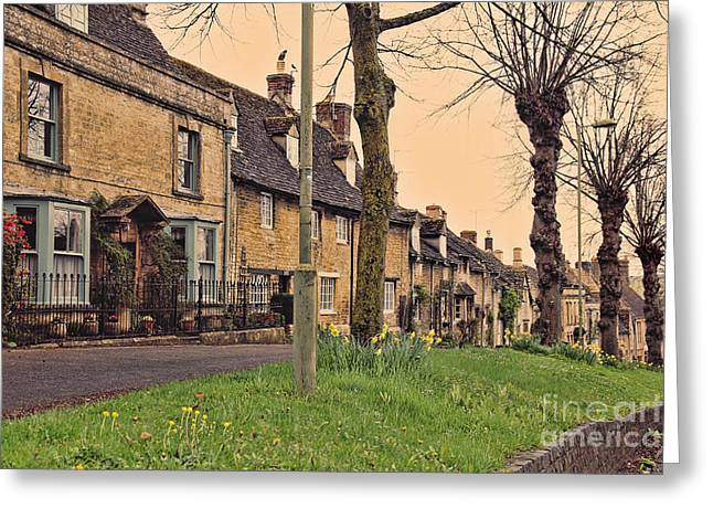 English Cottages Greeting Cards - Burford Cotswolds Greeting Card by Jasna Buncic