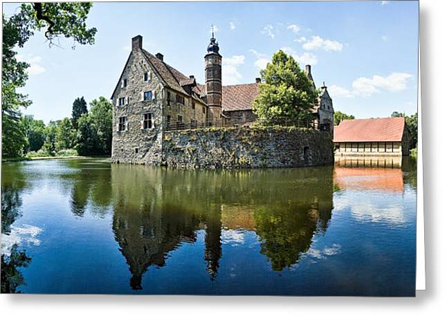 Moat Greeting Cards - Burg Vischering Greeting Card by Dave Bowman