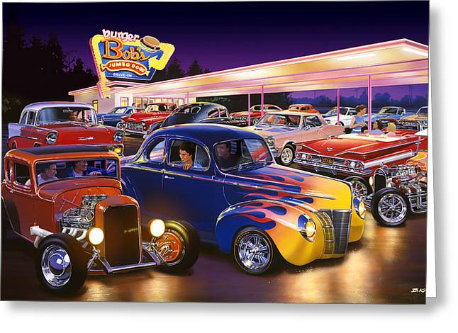 1932 Ford Greeting Cards - Burger Bobs Greeting Card by Bruce Kaiser