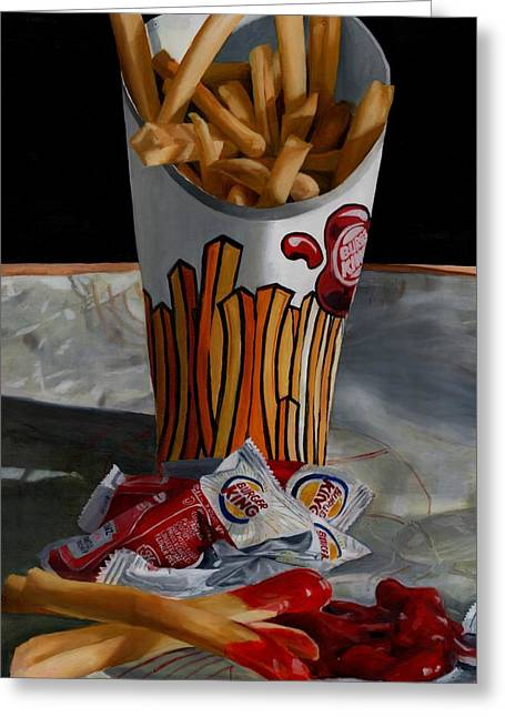 Fries Greeting Cards - Burger King Value Meal No. 5 Greeting Card by Thomas Weeks