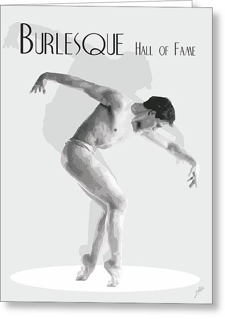 Ballet Dancers Drawings Greeting Cards - Burlesque By Quim Abella Greeting Card by Joaquin Abella