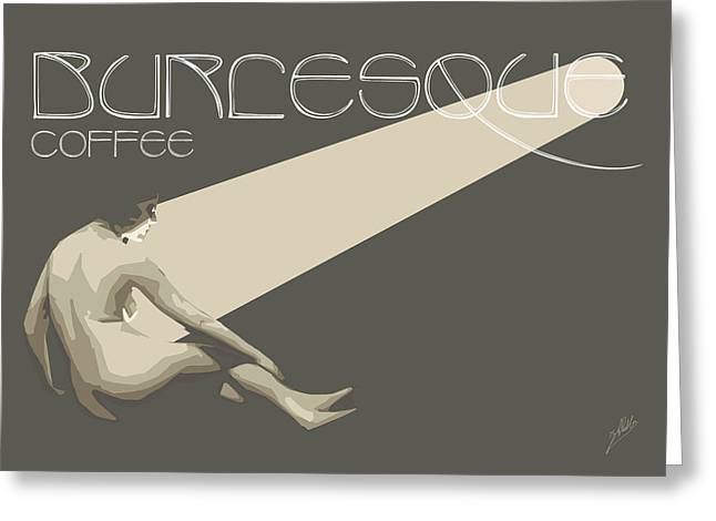 Ballet Dancers Drawings Greeting Cards - Burlesque Coffee By Quim Abella Greeting Card by Joaquin Abella