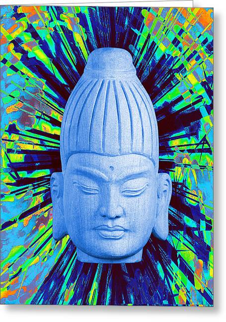 Religious Sculptures Greeting Cards - Burmese  colorful Greeting Card by Terrell Kaucher