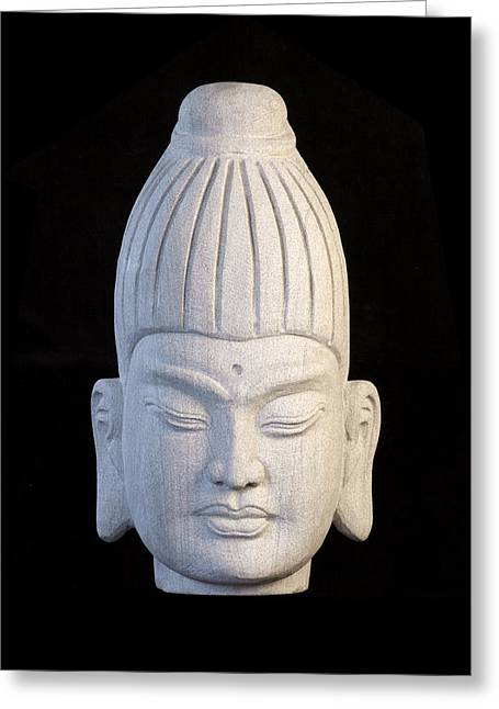 Buddhism Sculptures Greeting Cards - Burmese C Greeting Card by Terrell Kaucher