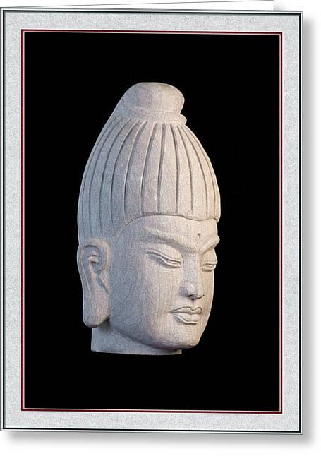 Buddhism Sculptures Greeting Cards - Burmese  Greeting Card 5 Greeting Card by Terrell Kaucher