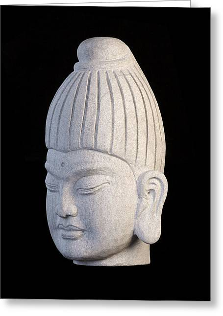 Buddhism Sculptures Greeting Cards - Burmese L Greeting Card by Terrell Kaucher