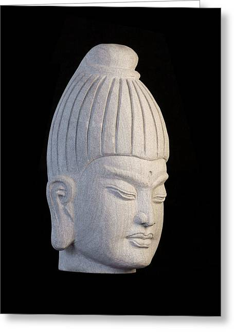 Buddhism Sculptures Greeting Cards - Burmese R Greeting Card by Terrell Kaucher