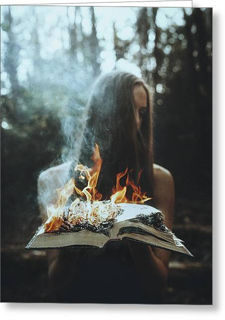 Tj Greeting Cards - Burn Greeting Card by TJ Drysdale