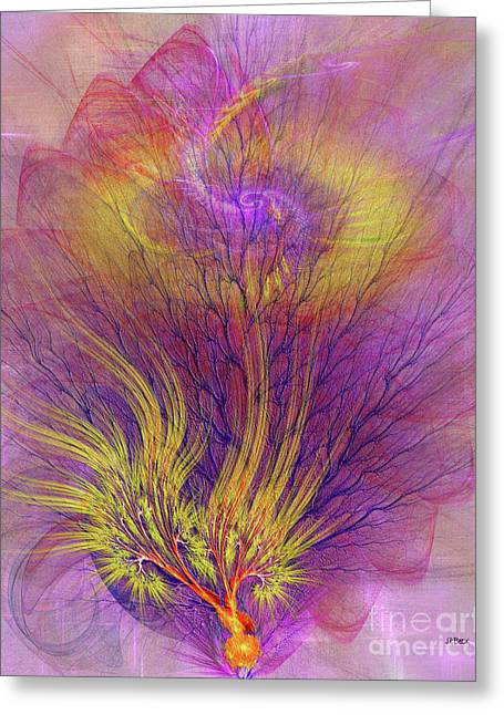 Burning Bush Greeting Card by John Robert Beck