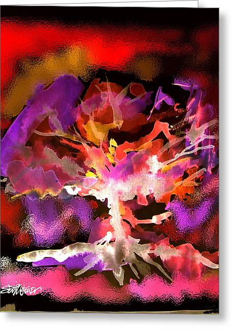 Bible Mixed Media Greeting Cards - Burning Bush Greeting Card by Seth Weaver