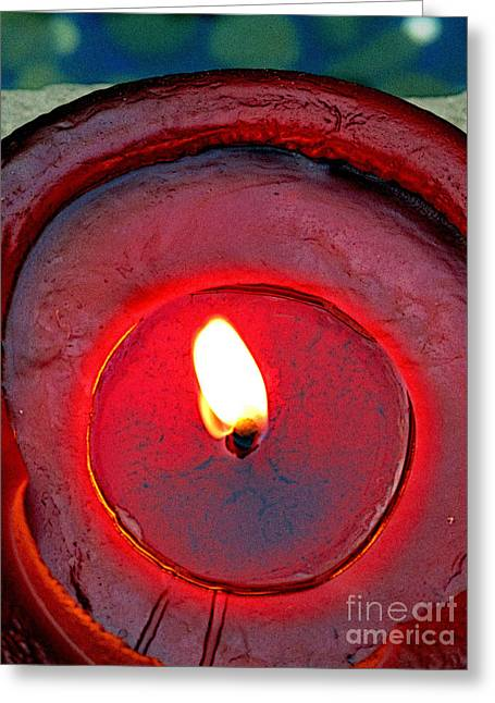 Guadalajara Greeting Cards - Burning Circles Greeting Card by Olden Mexico