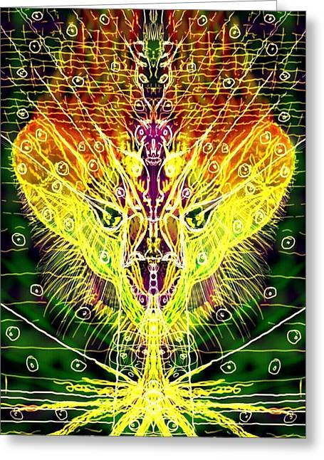 Lions Greeting Cards - Burning into the ground Greeting Card by Michael African Visions