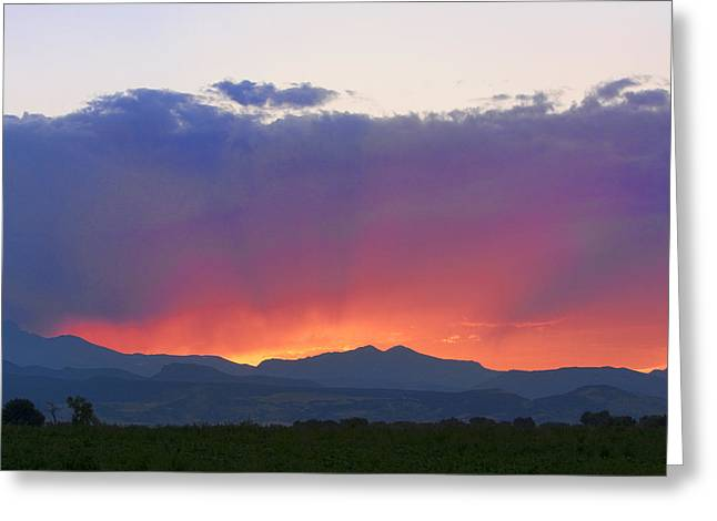 Sunset Posters Greeting Cards - Burning Rays of Sunset Greeting Card by James BO  Insogna