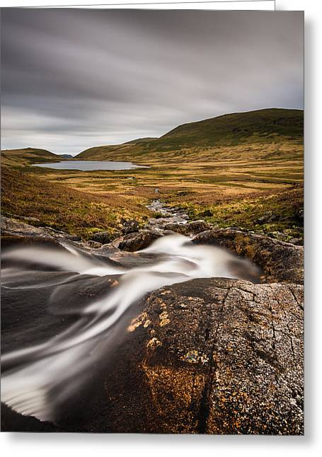 Flowing Greeting Cards - Burnmoor Tarn In The Lake District. Greeting Card by Daniel Kay