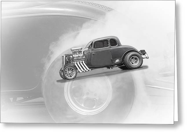 Rusted Cars Greeting Cards - Burnout D0805 Greeting Card by Wes and Dotty Weber