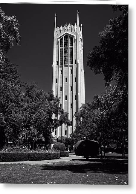 Stockton Greeting Cards - Burns Tower - University Of The Pacific Greeting Card by Mountain Dreams
