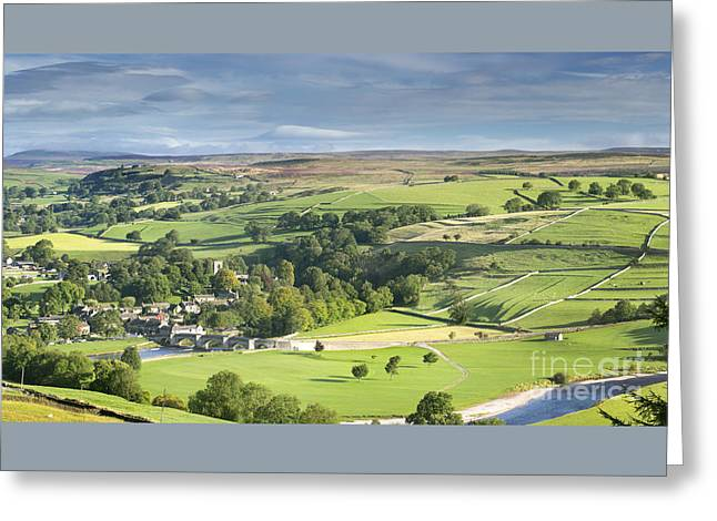 Long Distance Greeting Cards - Burnsall And The River Wharfe Greeting Card by John Potter