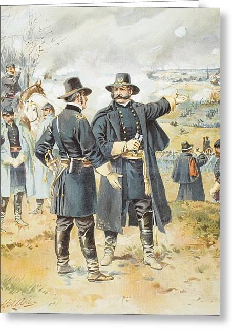 Engagement Picture Greeting Cards - Burnside At Fredericksburg December 13 Greeting Card by Ken Welsh