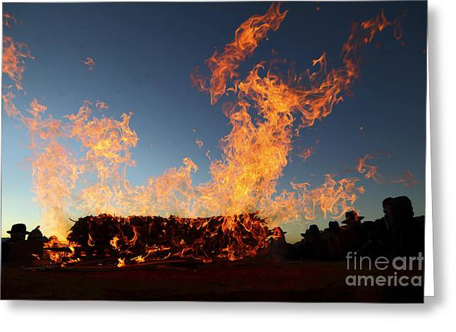 Burnt Offerings Greeting Card by James Brunker