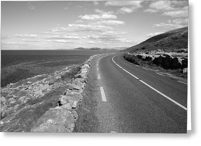 Burren Road Greeting Card by John Quinn