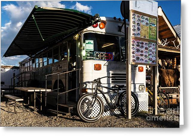 West Yellowstone Greeting Cards - Burrito Bus Greeting Card by Mel Steinhauer