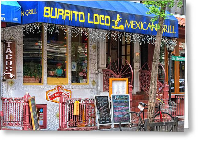 Menu Greeting Cards - Burrito Loco Greeting Card by Dave Mills