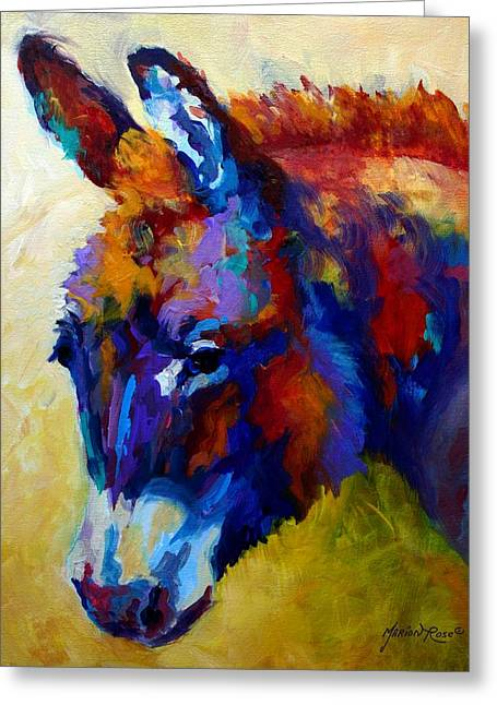 Burro II Greeting Card by Marion Rose