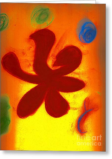 Recently Sold -  - Abstract Digital Pastels Greeting Cards - Burst Greeting Card by David Geernaert