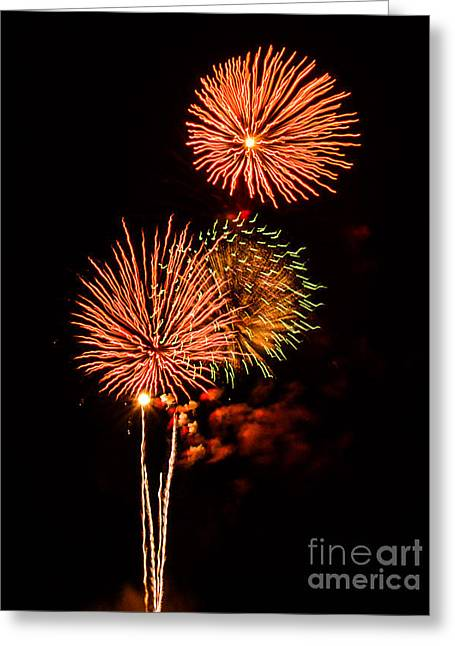 4th July Photographs Greeting Cards - Bursting Bouquet  Greeting Card by Kathy Liebrum Bailey