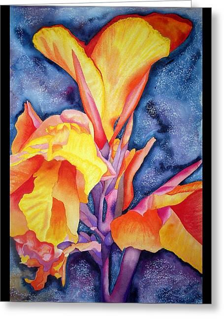 Bursting Forth Greeting Card by Margaret Elizabeth Johnston ND