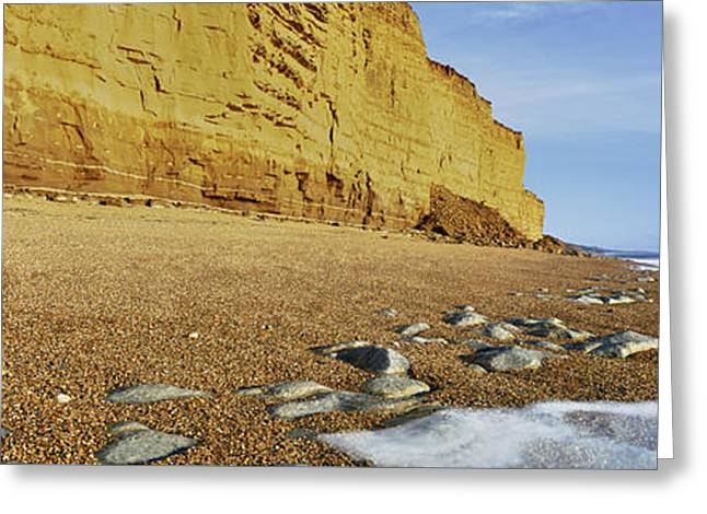 Burton Greeting Cards - Burton Bradstock Beach Greeting Card by Rod McLean