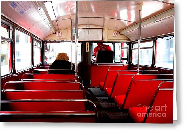 Bus For One Greeting Card by Randall Weidner