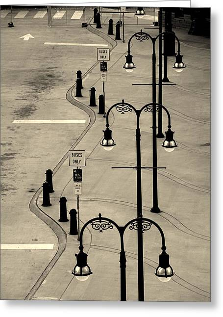 Bus Stop Greeting Cards - Bus Stop in Nashville TN Greeting Card by Susanne Van Hulst