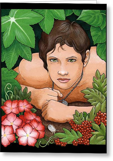 Bush Boy Greeting Card by Darla Hallmark