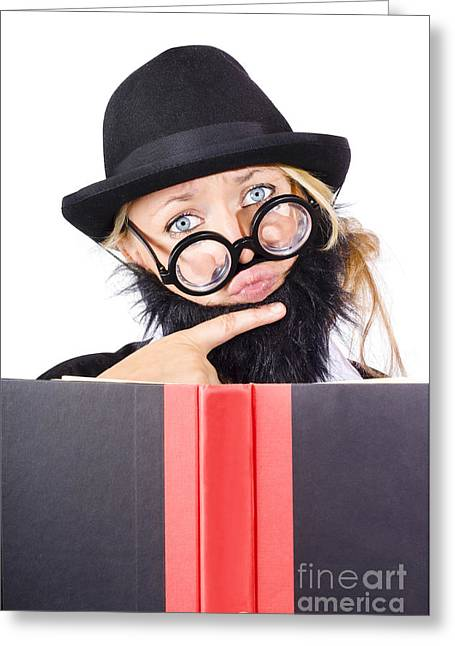 Business Research And Education Greeting Card by Jorgo Photography - Wall Art Gallery