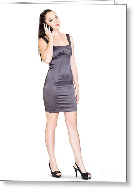 Business Sales Rep Communicating On Mobile Phone Greeting Card by Jorgo Photography - Wall Art Gallery