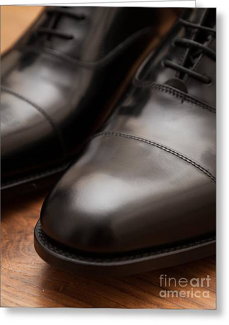 Cardboard Greeting Cards - Business Shoes Greeting Card by Shaun Wilkinson