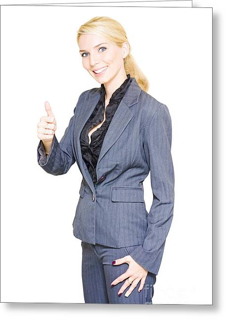 Accepting Greeting Cards - Business Success Greeting Card by Ryan Jorgensen