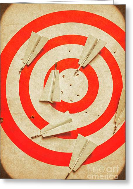 Business Target Practice Greeting Card by Jorgo Photography - Wall Art Gallery