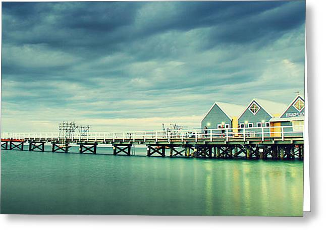 Sheds Greeting Cards - Busselton Jetty Greeting Card by Jimmy Chong
