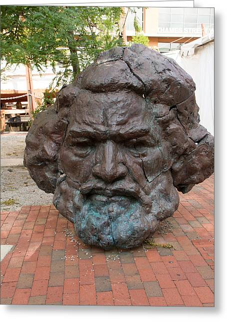 Frederick Douglass Greeting Cards - Bust of Frederick Douglass Greeting Card by Dr Arnold Hence