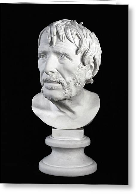 Bust Sculptures Greeting Cards - Bust of Pseudo-Seneca Greeting Card by Andrea Felice