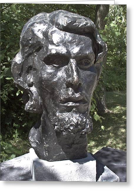 Bust Sculptures Greeting Cards - Bust of Unknown Greeting Card by Michael Rutland