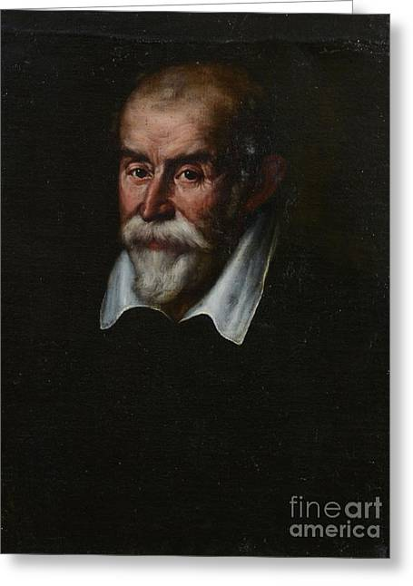 Bust Portrait Of A Gentleman Greeting Card by  Bartolomeo Passarotti