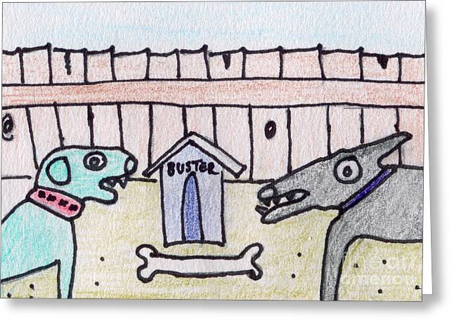Growling Greeting Cards - BUSTER and JIMMY  Greeting Card by Kim Magee ART