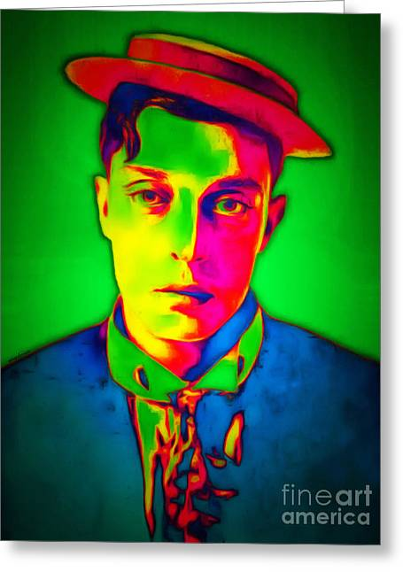 Buster Keaton 20151220 Greeting Card by Wingsdomain Art and Photography