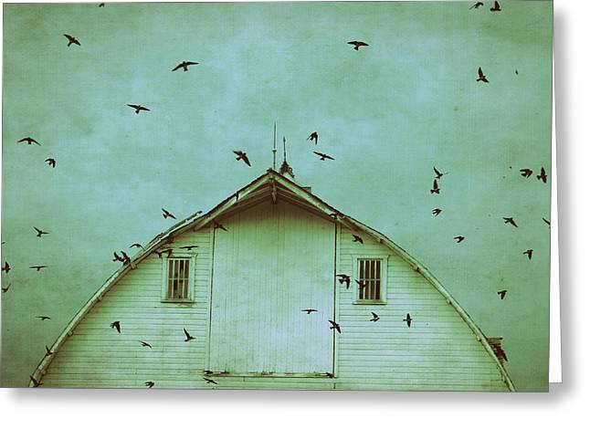 Country Chic Greeting Cards - Busy Barn Greeting Card by Julie Hamilton