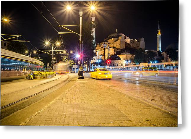 Exposure Greeting Cards - Busy Istanbul Streets Greeting Card by Anthony Doudt